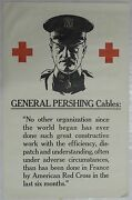 Wwi Red Cross Original Vintage Poster With Quote From General John Pershing