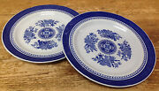 Fitzhugh Spode Blue White Floral Asian Chinoiserie Y2988 2 Salad Dessert Plates