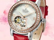 New Automatic Mechanical Hollow Out Womenand039s Socialite Series Wrist Watch 6063l2p