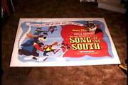 Song Of The South 1946 British Quad 30x40 Orig Movie Poster Uncle Remus Rare