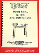 Oliver No. 159m Metal Spinning Lathe Ownerand039s And Parts Manual 1077