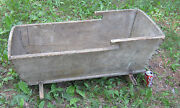 Antique Primitive Country Wood Baby Bassinet Cradle Bedroom Toy Doll Room Art