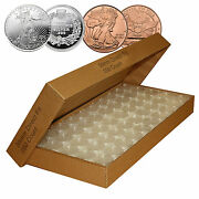 250 Direct Fit Airtight H39 Coin Capsules For 1oz Silver Rounds Or Copper Rounds