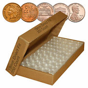 Direct-fit Airtight A19 Coin Capsule Holders For Pennies Qty 250