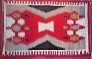 Very Fine Antique Navajo Indian Rug Weaving 62 By 38 Native American 20s
