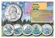 2012 Hologram National Parks America The Beautiful Coins Set Of All 5 Quarters