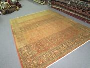 Vintage Turkish Hereke Rug Hand Knotted Wool 6and039-7 X 8and039-3 Signed