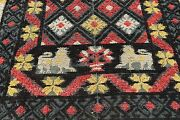 Very Rare Antique 1800s Spanish Lion Embroidery Portugal Table Rug Tapestry