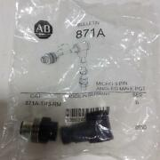 Allen Bradley Angled Male Connector 871a-tr3-rm New Pzb