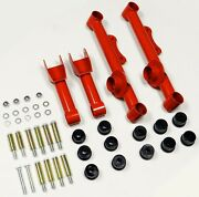 Vms Racing Rear Upper And Lower Tubular Control Arms 79-04 Ford Mustang Red Uca