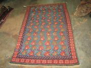 Antique Russian Caucasian Kuba Hand Knotted Rug 2and039-11 X 5and039 Wool