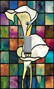 Light Switch Plate And Outlet Covers Stained Glass Look Calla Lily
