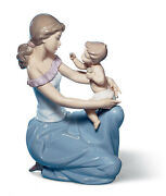 Lladro One For You One For Me Mother Figurine 6705 Brand Nib Baby Save F/sh