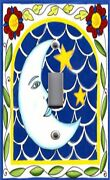 Light Switch Plate And Outlet Covers Yellow Blue Lunar Moon Luna 6
