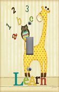 Light Switch Plate And Outlet Covers Nursery Abc Owl Giraffe Learn