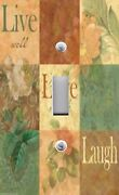 Light Switch Plate And Outlet Covers Live Love Laugh Floral Chic