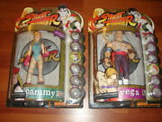 Street Fighter Action Figures 1999 Round One Official Capcom Rare Cammy Vega Ps