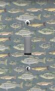 Light Switch Plate Outlet Covers Multi Small Fish Fishing Summer Fun