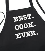 Novelty Kitchen Apron Best Cook Ever Aprons With Funny Sayings By Coolaprons