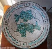 LARGE MID CENTURY CERAMIC BOWL JEROME MASSIER VALLAURIS EARLY 20TH CENTURY