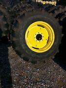 Two New 17.5lx24 R4 Kubota John Deere Farm Tractor Tires W/wheels