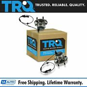 Trq Front Wheel Hub And Bearing Lh And Rh Pair Set For Jaguar S-type Super Xj8 Xjr