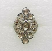 10k Yellow Gold Sterling Silver Vintage Knuckle To Knuckle 3-carats Diamond Ring
