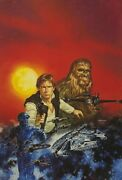Star Wars - Han Solo And Chewbacca Artist's Proof Litho By Dave Dorman - Signed