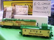 New Mth Es44ac Imperial Dcs Christmas Diesel And Matching Caboose Holiday Set Rare