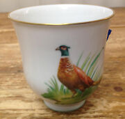 E Tumbler Cup Mug Pheasant H And Co Heinrich Antique Haviland Chiemsee German Old