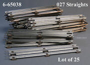 Lionel 027 Track Standard Straight Sections O Gauge Train 6-65038 Lot 25 New