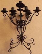 11 Christmas Holiday Candle Holder 41 Scroll Wrought Iron Centerpiece Candelabra