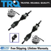 Trq Cv Axle And Wheel Bearing Hub Kit Front Left Right Pair For Ford Mercury New