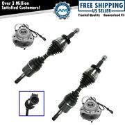 Cv Axle And Wheel Bearing Hub Kit Front Left Right Pair For Ford Mercury New