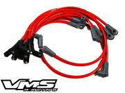 Vms Racing Red 10mm 10.2mm Spark Plug Wires Set 94-96 Chevrolet Impala Ss Lt1