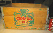Vintage 1963 Canada Dry Ginger Ale Soda Wood Art Map Sign Box Bottle Crown Crate