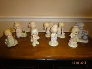 Lot Of 9 Precious Moments Figurines