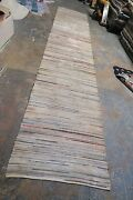 Vintage Fine Primitive Braided Rag Rug Runner Cotton American 2and039-6 X 12and039-0