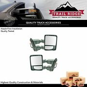 Trail Ridge Tow Mirror Power Fold Extend Heat Smoked Signal Chrome Pair For Ford
