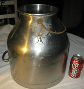Antique Country Delaval Sign Stainless Steel Dairy Milk Cow Farm Bottle Can Art