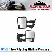 Trail Ridge Tow Mirror Upgrade Power Fold Heat Signal Smooth Black Pair For Ford