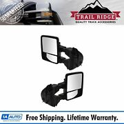 Trail Ridge Tow Mirror Upgrade Power Fold Heat Smoked Turn Memory Pair For Ford