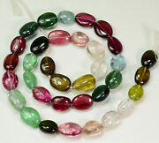 160.8ct Multi Color Tourmaline Smooth Nugget Beads 16 Inch Strand