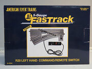 Lionel American Flyer Fastrack R20 Left Command/remote Switch S Gauge 6-47941