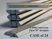 Lionel American Flyer Fastrack 30 Straight Case S Gauge 2 Rail 6-49862 24 New