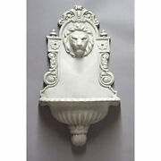 English Lion Wall Fountain- Indoor Or Garden- By Orlandi-13 Finishes Avail. 30h