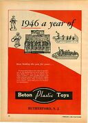 1946 Paper Ad Beton Plastic Toy Soldiers Pt 45 Cowboy Bergen Toy And Novelty