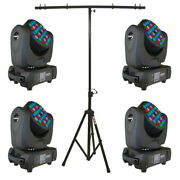 Blizzard 4 Blade Rgbw Moving Head Package With Portable T-bar Lighting Stand