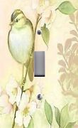 Light Switch Plate Outlet Covers Chic Song Bird Shabby Flowers 04