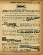 1926 Paper Ad 8 Pg Mechanical And Electric Toy Train Sets American Flyer Cast Iron